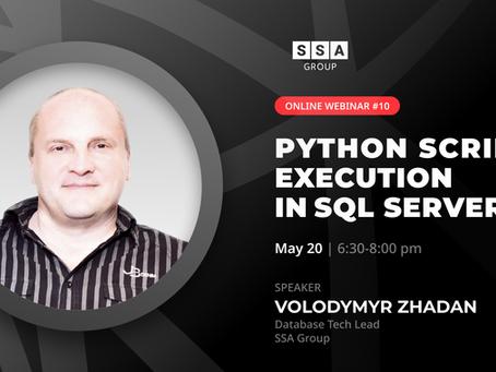 """Python scripts execution in SQL Server"" від SSA Group"