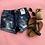 Thumbnail: Denim frayed pocket drestroyed shorts