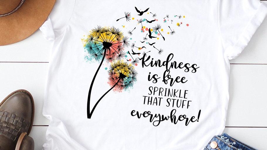 Kindness if free logo tee