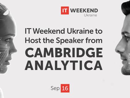 Как Big Data меняет мир: Chief Data Officer компании Cambridge Analytica впервые выступит в Украине