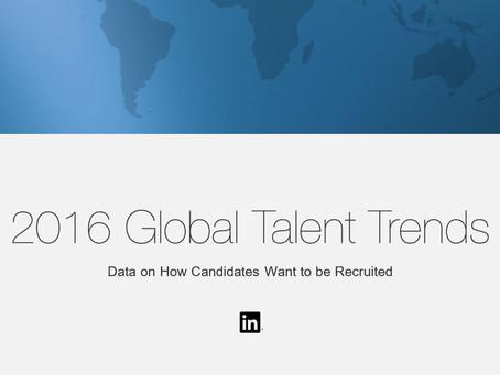 Linkedin опубликовал ежегодный отчет Global Talent Trends 2016