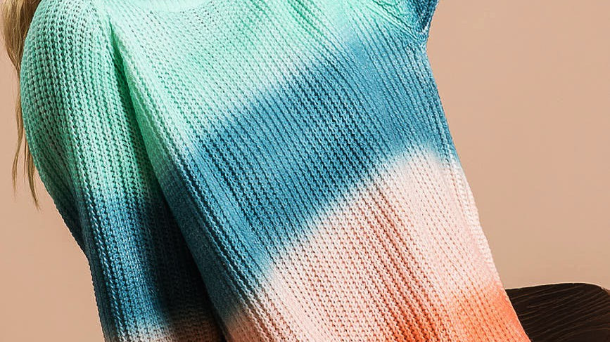 Multi Color Ribbed Oversized Sweater