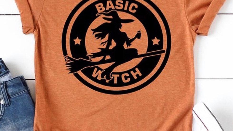 Basic Witch Orange Autumn Tee