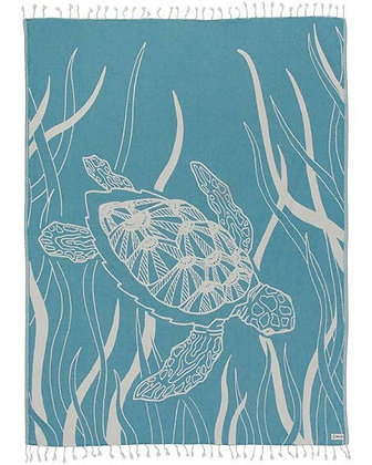 Turquoise Turtle Seagrass Large Towel