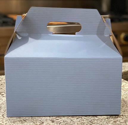 French Blue Gable Gift Boxes