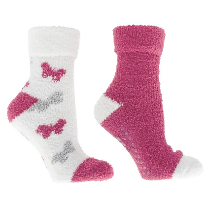 Women's Rose and Shea Butter Infused Slipper Socks