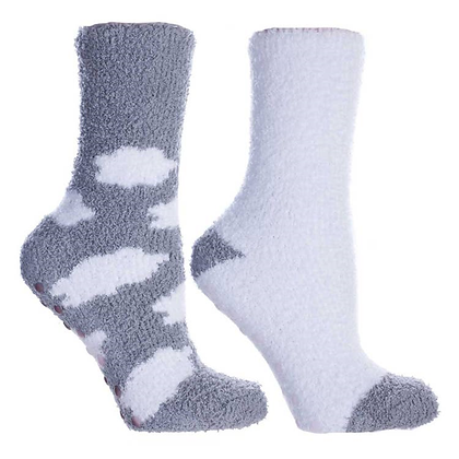 Women's Non-Skid Warm Soft and Fuzzy Lavender Infused Slipper Socks
