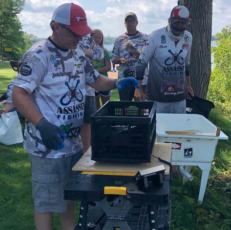 Jason Kamerud does his work at Tournament Director at Gull Lake 2020