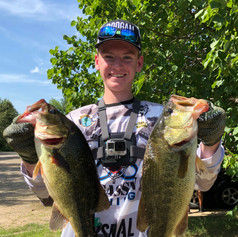 Jack Griffin with two nice fish at Whitefish Chain 2019
