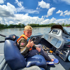 Parker Thompson ready for action on Bald Eagle Lake 6-27-21