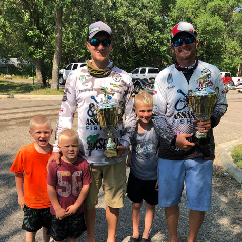 Cody/Marty and Cody's kids after winning the COVID Cup