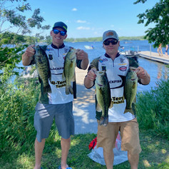 Vince and Neil with some good fish at Lake Minnetonka