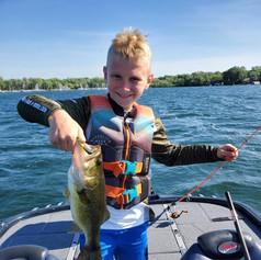 Parker Thompson with a great bass on Lake Minnetonka