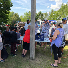 Always interested parties at the weigh-in! Whitefish Chain 2019