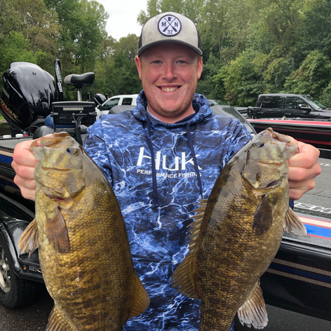 Trey Thompson with some nice fish at the 2019 TOC Coon Rapids Dam