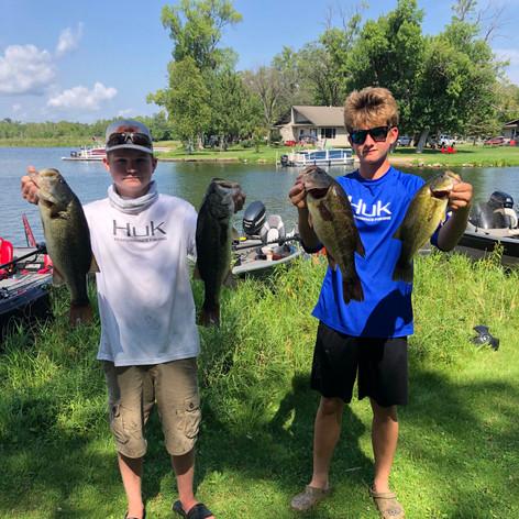 Garrett Wurm and Brandon Paumen with some nice fish at Gull Lake 2020