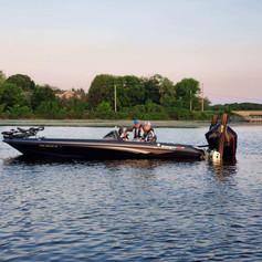 Griffin's boat take-off Minnetonka