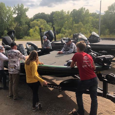2020 TOC recap meeting around Trey's boat
