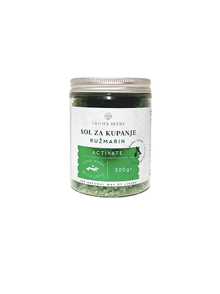 SOL ZA KUPANJE Ružmarin / NATURAL BATH SALT  Rosmemary 300gr