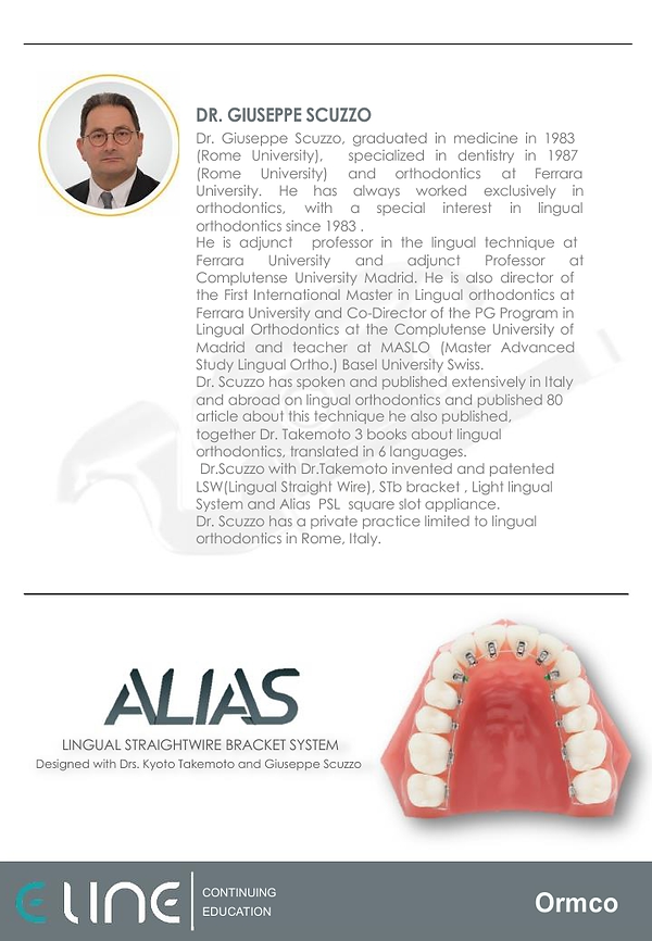 Eline Continuing Education - Courses by Prof. Scuzzo in Lingual Orthodontics -page_4