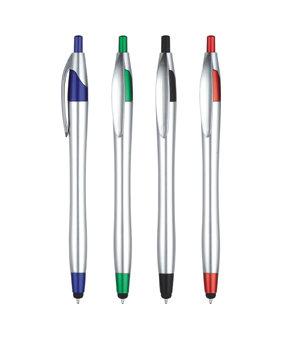 עט מגע פלסטיק כסוף