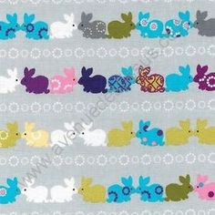 Lapins multicolores