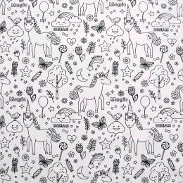 licorne noir et blanc