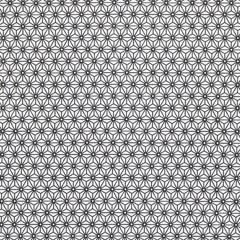 Asanoha noir et blanc