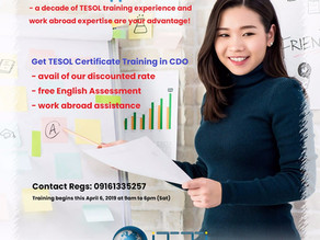 Weekend #TESOL Training in #CDO