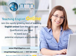 be a Certified Online ESL Teacher