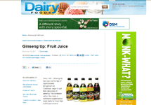 dairyfoods.com: Ginseng Up: Fruit Juice