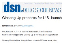 GINSENG UP PREPARES FOR U.S. LAUNCH