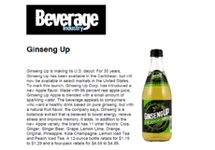 bevindustry.com: Ginseng UP Makes its U.S. Debut