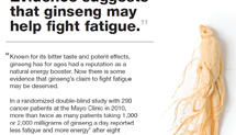 blogs.nytimes.com: Ginseng May Help Fatigue
