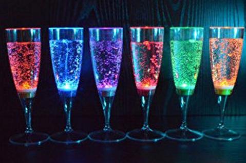 Ensemble de 6 verres lumineux