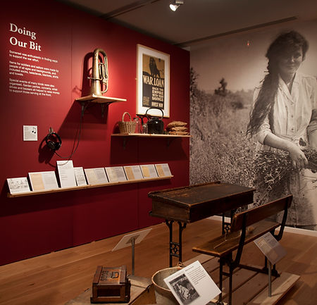 Somerset Remembers exhibition, The Museum of Somerset 2014 -  Image courtesy of South West Heritage Trust