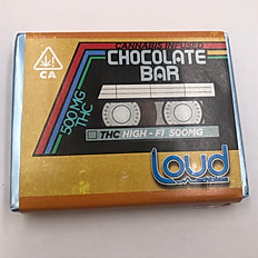 500mg Loud Edibles Chocolate Bar