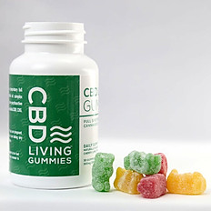 CBD Living Sour Gummies BOTTLE 300MG