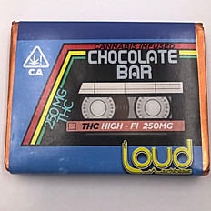 250mg Loud Edibles Chocolate Bar