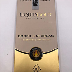 Liquid Gold Chocolate Bars - Cookies N Cream