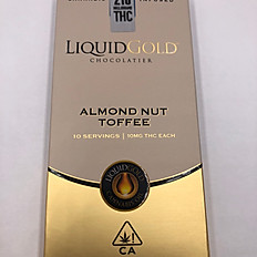 Liquid Gold Chocolate Bars - Almond Nut Toffee Chocolate