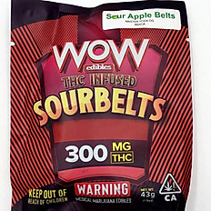 Wow Sour Apple Belts 300mg (Indica)