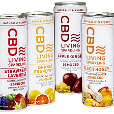 CBD Living Sparkling Water Peach Honey