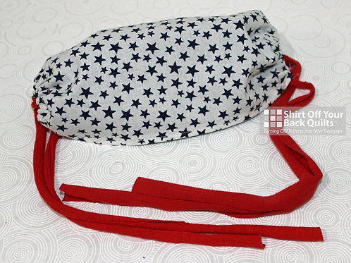 Navy Stars Cloth Mask