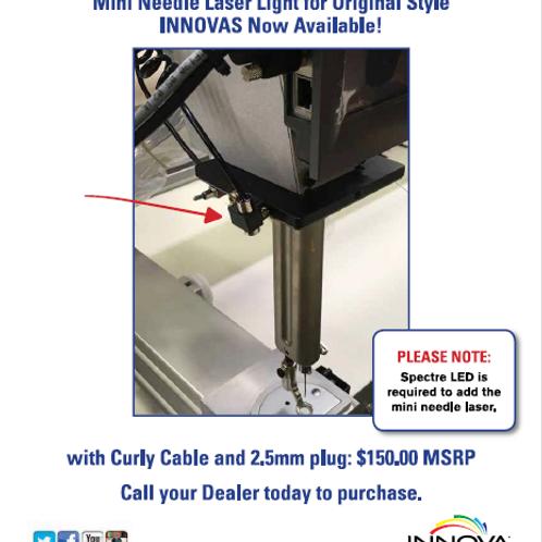 Mini Needle Laser Light w/ Curly cbl & 2.5mm plug