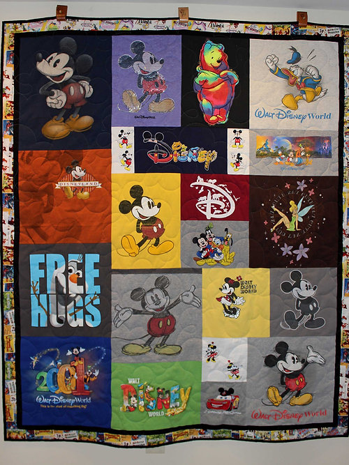 Shirt Off Your Back Quilts: Custom T-Shirt Quilts: Homepage ... : disney quilts - Adamdwight.com