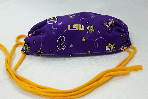 LSU Cotton Face Mask