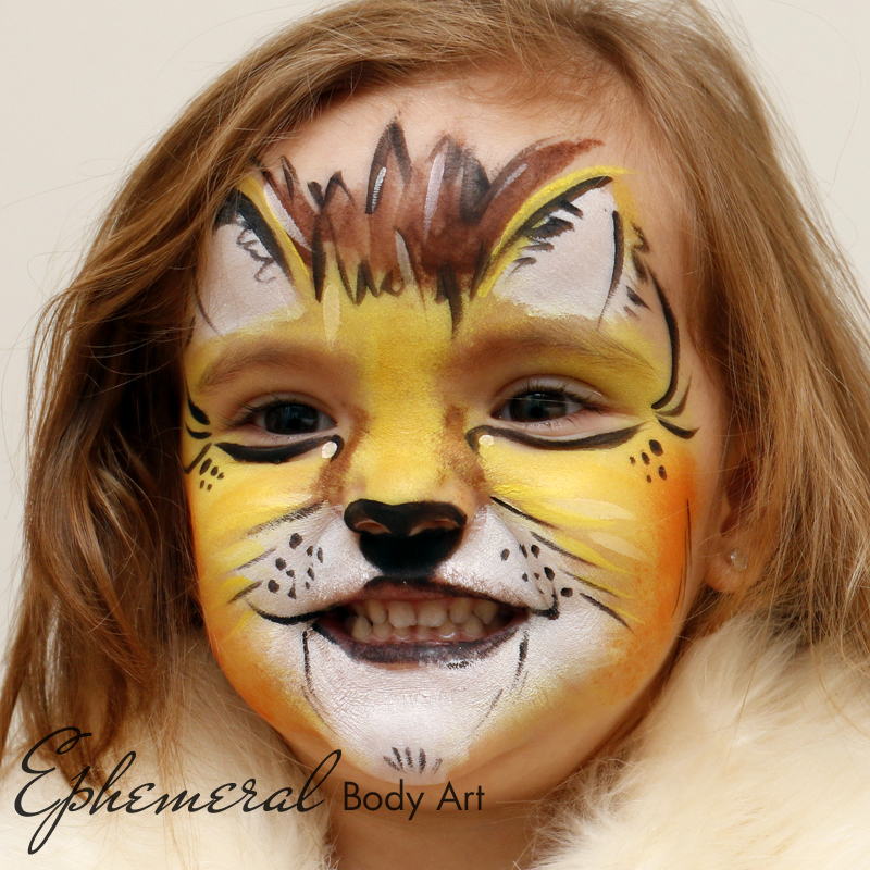 Lioness Face Painting