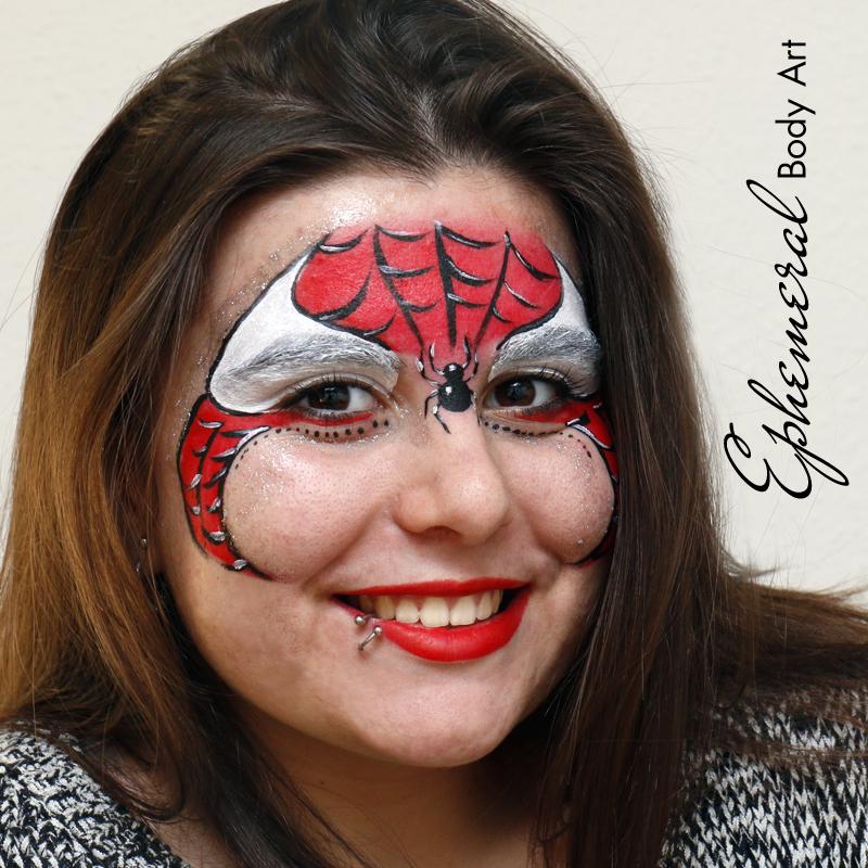 Spiderwoman Face Paiting