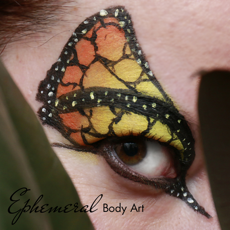 Monarch Butterfly Face Painting